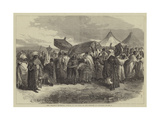 The Abyssinian Expedition, Funeral of the Widow of King Theodore at Aikhullet Giclée-tryk