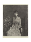 Princess Victoria Mary of Teck, Betrothed to Hrh the Duke of Clarence and Avondale Giclee Print
