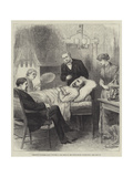 President Garfield Lying Wounded in His Room at the White House, Washington Giclee Print