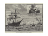 The Naval Review, Fleet Assembling at Spithead, Ships Taking Up their Position Wydruk giclee