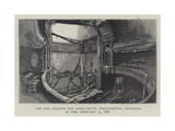 The New Theatre and Opera House, Northampton, Destroyed by Fire, 13 February 1887 Giclee Print