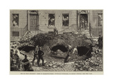 The Gas Main Explosion, Scene in Charlotte-Street, Tottenham-Court-Road, on Monday Evening Giclee Print