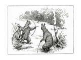 The Bears Practicing Shooting Arrows, from 'The Book of Myths' by Amy Cruse, 1925 Lámina giclée