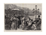 The Season on the Riviera, a Concert on the Terrace of the Casino at Monte Carlo Giclee Print