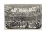 Soiree at the Liverpool Mechanics' Institution, on Monday Last, Mr Dickens's Address Giclee Print