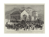 Religious Intolerance in Greece, Attack on the Protestant Church in Athens Giclee Print
