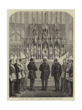 The Grand Masonic Ceremony in Gloucester Cathedral, Unveiling the Reredos Giclee Print