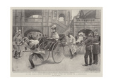 At the Earl's Court Exhibition, a Ride Round Old London in a Jinrickshaw Giclee Print