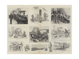 Sketches at the Gordon Memorial Boys' Home, Fort Wallington, Portsmouth Giclee Print