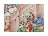 Detail from Krishna Cleaves the Demon Narakasura with His Discus, C.1585-90 Giclee Print