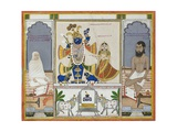 Illustration for a Manuscript on the Worship of Srinathji, Rajasthan, Early 19th Century Giclee Print