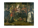 Madonna and Child with John the Baptist, Anthony and Other Saints, 1534 Giclee Print