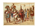 The Persian King Shapur I Using the Captured Roman Emperor Valerian as a Footstool, C260 Giclee Print