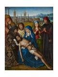 Lamentation with Saint John the Baptist and Saint Catherine of Alexandria, C.1493-1501 Giclee Print