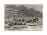 The Race for the Eclipse Stakes of £10,000 at Sandown Park, Bendigo Wins! Giclee Print