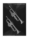 A Charles Gerard Conn French Brass 2-B New World Symphony Trumpet and a 22-B New York Symphony Trum Giclée-tryk
