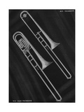 A Charles Gerard Conn the Ballroom Trombone 40-H and Duo-Bore Bass Trombone 70-H Giclee Print