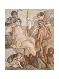 Fresco Depicting Hercules and Telephus, from Basilica of Herculaneum, Campania, 1st Century Wydruk giclee