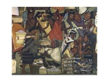 Close-Up of a Fresco, Market at Tenochtitlan, National Palace, Mexico City, Mexico Giclee Print