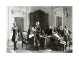 Interview Between Lafayette (1757-1834) and George Washington (1732-1799). by R. Bong Giclee Print