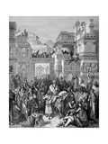 Old Testament. Book of Esther. the Triumph of Mordecai. Drawing by Hotelin, by Dore Giclee Print