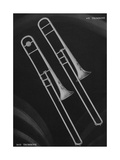 A Charles Gerard Conn Artist Model Trombone 4-H and a Artist-Ballroom Trombone 24-H Giclee Print