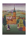 Old Croatian Church, 1967, by Antun Bahunek (1912-1985), Croatia, 20th Century Giclee Print