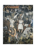 Close-Up of a Mural, the History of the Inquisition, National Palace, Mexico City, Mexico Giclee Print