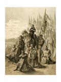 Seventh Crusade (1248-1254). Conquest of Damietta (June 7, 1249) by Saint Louis (1214-1270) Lámina giclée