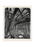 Scaffolding for Raising the Quarter Bells in the Clock Tower of the New Houses of Parliament Giclee Print