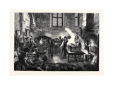 The Distress in Coventry Distribution of Soup for Distressed Weavers in the Kitchen of St. Mary's H Giclee Print