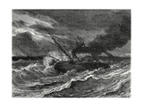 The 'Elise' the First Steamboat Travelling from England to France Is Caught Up in a Storm at Sea Giclee Print