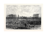 Progress of the Paris Exhibition Building in the Champ De Mars France 1866 Giclee Print