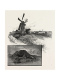 Niagara District, Old Fort Erie, and Windmill, Canada, Nineteenth Century Giclee Print