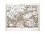 Map of Central Asia Afghanistan Pakistan Republic of Tajikistan Turkmenistan the Republic of Uzbeki Giclee Print