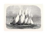 The Royal Thames Yacht Club Schooner Match the Cambria and Witchcraft Rounding the Mouse Light 1869 Giclee Print