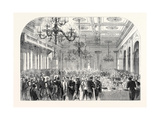 Banquet Given at the Exchange Gottenburg on the Occasion of Opening the Railway Between Gottenburg  Giclee Print