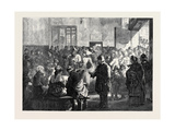 The Distress in Paris: Giving Soup to the Poor at the Charity Kitchen Rue De Sevres 1874 Giclee Print