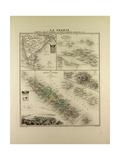 Map of India New Caledonia Tahiti Tuamotu Archipelago Marquesas Islands 1896 Giclee Print
