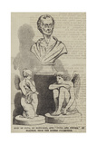 Bust of Pope, by Roubiliac, and Cupid and Psyche, by Flaxman, from the Rogers Collection Giclee Print
