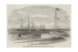 The British Steamer Bengal Bringing a Supposed Russian Prize into Madras Harbour Giclee Print