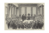 University of London, the First Conference of Degrees, in the Hall of King's College Giclee Print