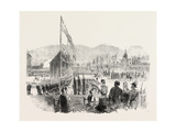 Equestrian Statue of Charles Xiv. (Bernadotte) Inaugurated at Stockholm Sweden 1854 Giclee Print