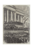 The Second Inauguration of President Lincoln in Front of the Capitol at Washington Giclee Print