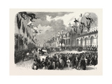 Reception of the Grand Duke Constantine at Marseilles, Marseille, France, 1857 Giclee Print