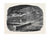 Flood on the Great Northern Railway, Between Darlington and Ferry-Hill Stations Giclee Print
