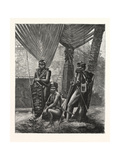 Recent Piracy at the Straits Settlements : Dyaks of Borneo, 1876 Giclee Print