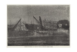 Building the Lapwing and Ringdove Dispatch Gun-Vessels by Gaslight, at Cowes Giclee Print