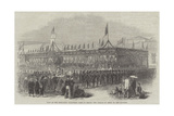 Visit of the Hong-Kong Volunteer Corps to Macao, the Parade in Front of the Pavilion Giclee Print