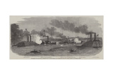 Engagement Off Fort Pillow, Mississippi River, Between Federal and Confederate Gun-Boats Giclee Print